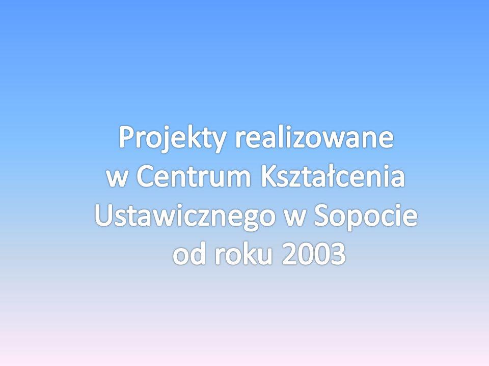 PROJEKTY ZREALIZOWANE W LATACH 2003 - 2005