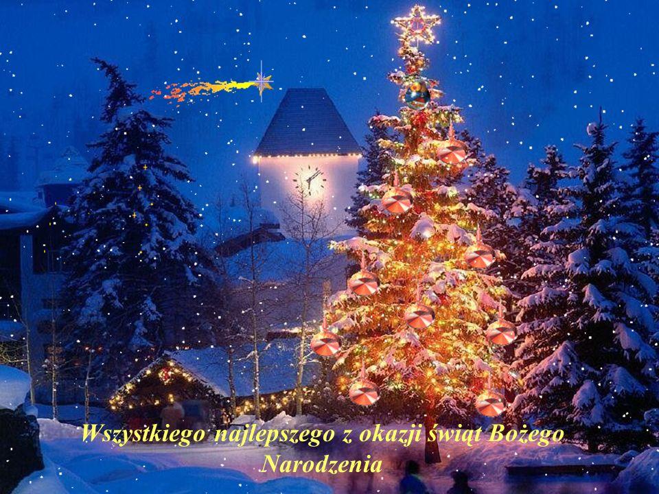 Życzymy Wam Świąt prawdziwie świątecznych, ciepłych w sercu, zimowych na zewnątrz, pachnących choinką, jaśniejących pierwszą gwiazdką. Świąt wypełnion