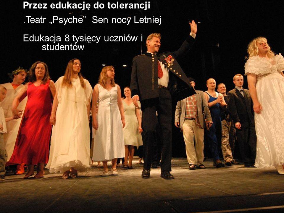 Przez edukację do tolerancji.Teatr Psyche Sen nocy Letniej Edukacja 8 tysięcy uczniów i studentów
