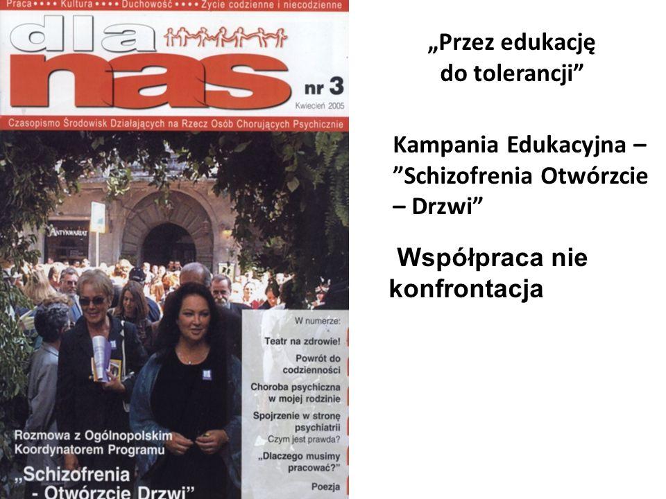 Przez edukację do tolerancji Kampania Edukacyjna – Schizofrenia Otwórzcie – Drzwi Współpraca nie konfrontacja