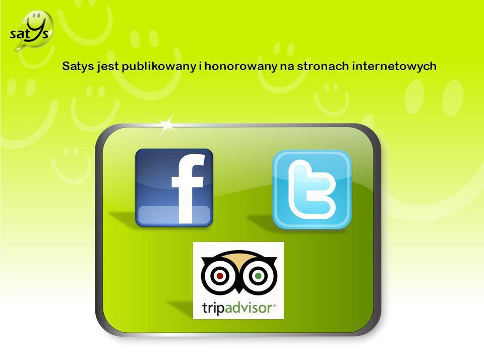Satys jest publikowany i honorowany na stronach internetowych