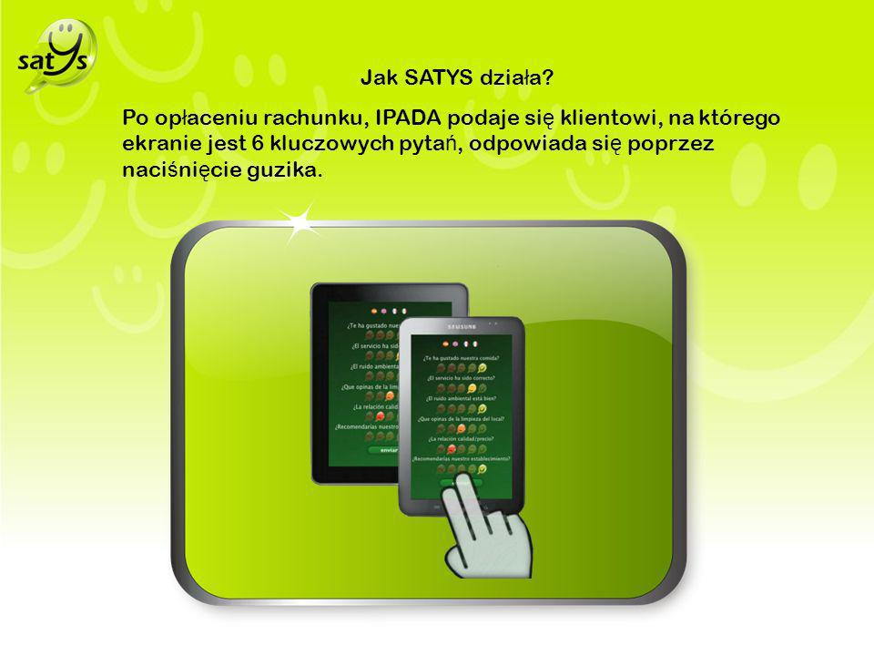 Wszystkie informacje zostaj ą przechowywane i przetwarzane on line, do wygenerowania poziomu satysfakcji klienta w ka ż dej chwili.