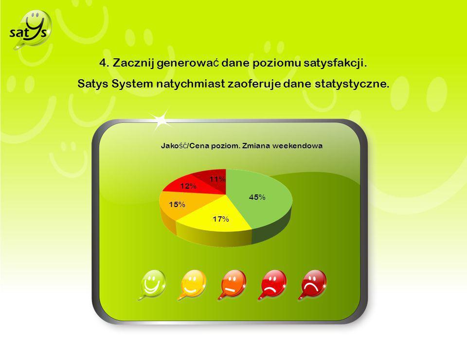 4. Zacznij generowa ć dane poziomu satysfakcji.