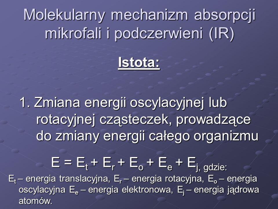 Kwantowa natura światła w oddziaływaniach z materią Cząsteczki zdolne do zmiany energii świetlnej w chemiczną: 1.