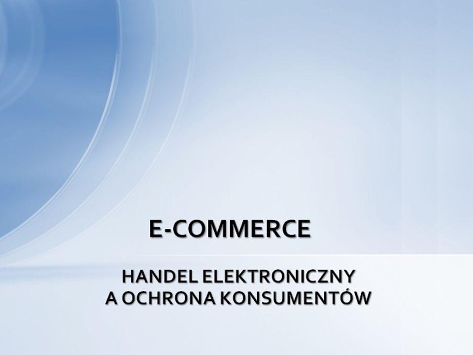 Handel elektroniczny - definicja Handel elektroniczny (Electronic commerce-EC, e-commerce, commerce on-line) jest to proces kupna, sprzedaży i dostawy produktów, usług, informacji przez partnerów handlowych (indywidualnych i/lub grupowych oraz przedsiębiorstwa elektroniczne), na terenie tego samego kraju (handel krajowy) lub pomiędzy rezydentami dwóch lub więcej krajów (handel międzynarodowy lub globalny), zabezpieczany za pomocą środków płatności (tradycyjnych i elektronicznych), dokonywany przy pomocy głównie sieci komputerowych z Internetem, dla osiągnięcia określonych zysków.