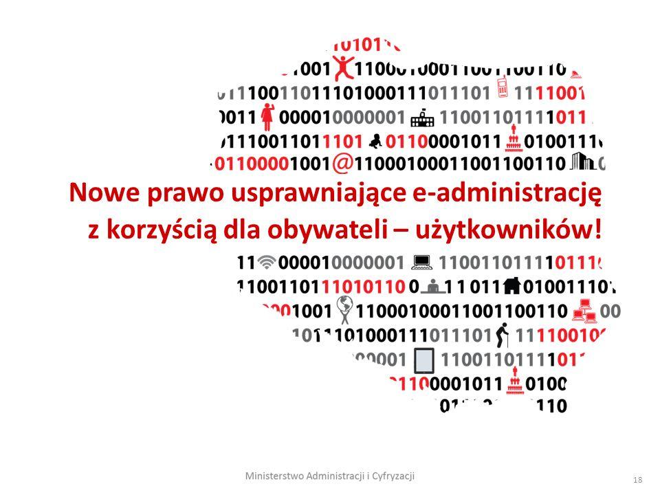 18 Nowe prawo usprawniające e-administrację z korzyścią dla obywateli – użytkowników!