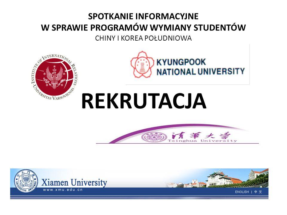 SPOTKANIE INFORMACYJNE W SPRAWIE PROGRAMÓW WYMIANY STUDENTÓW CHINY I KOREA POŁUDNIOWA REKRUTACJA