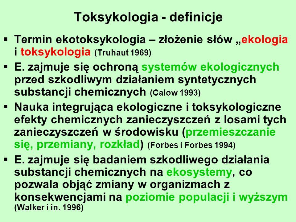 Toksykologia – definicje cd.E.
