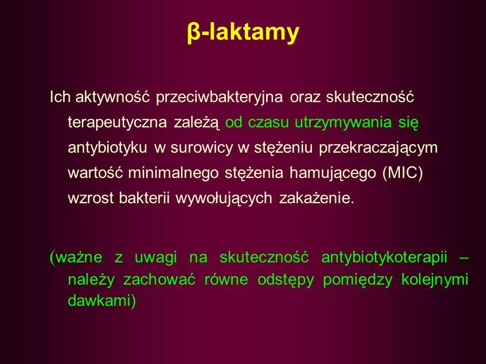 PIERŚCIEŃ B-LAKTAMOWY karbapenemy penemy trójbaktamy monobaklamy penicyliny cefalosporyny