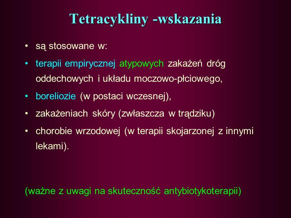 SPEKTRUM - BAKTERIE GRAM (+) – ZIARENKOWCE - BAKTERIE GRAM (-) - RICKETSIA,COXIELLA - CHLAMYDIA, MYCOPLASMA, UREOPLASMA - PIERWOTNIAKI -TREPONAMA PALL