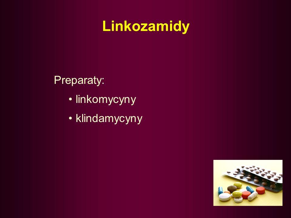 Linkozamidy –pod względem spektrum aktywności i właściwości farmakokinetycznych / farmakodynamicznych przypominają makrolidy, –ich największą zaletą j