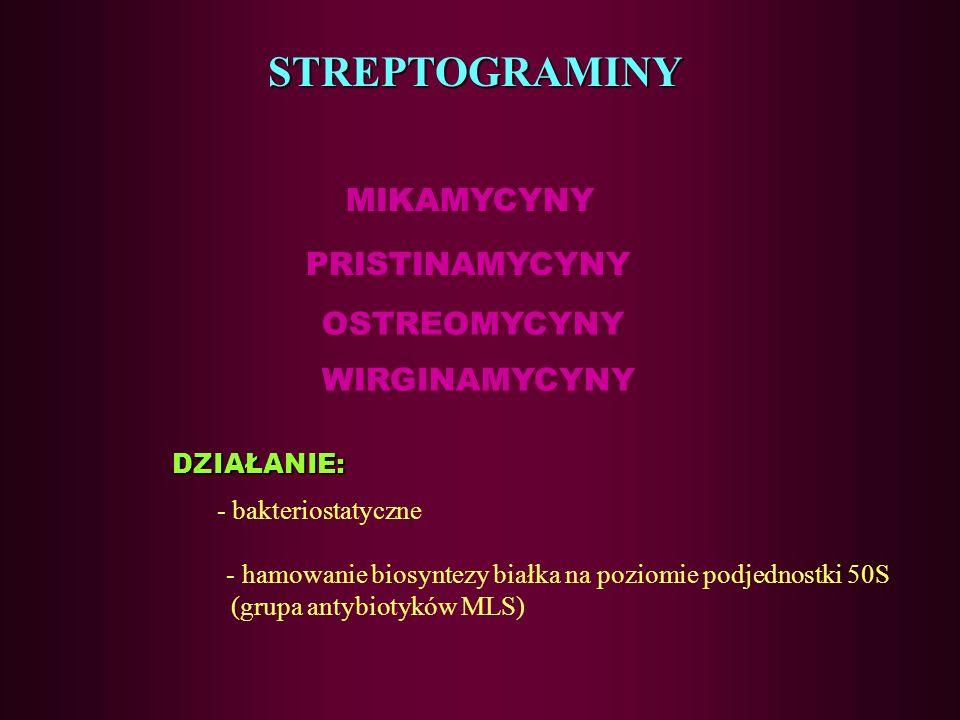 Linkozamidy -wskazania –pod względem spektrum aktywności i właściwości farmakokinetycznych / farmakodynamicznych przypominają makrolidy, –ich najwięks