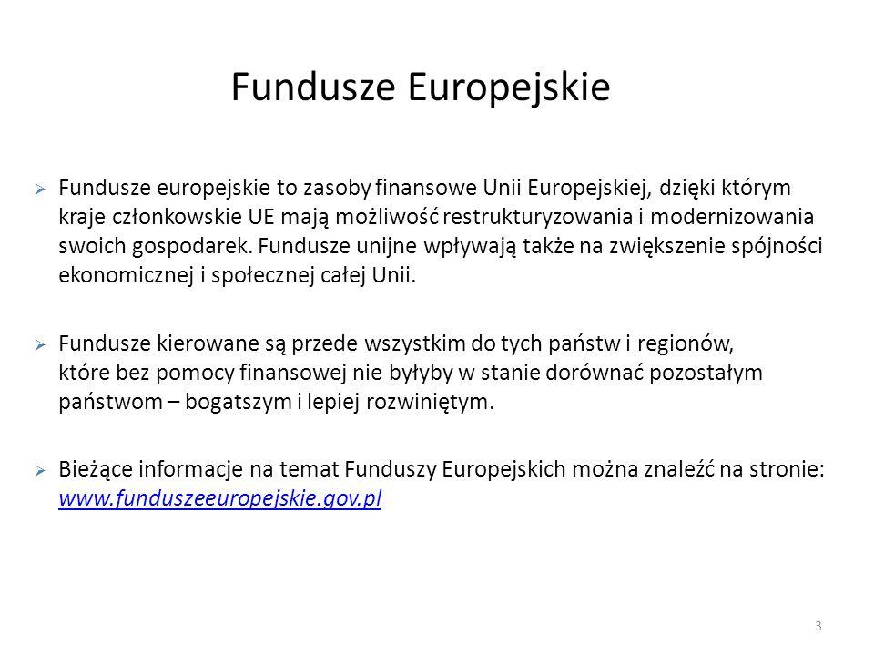 Wsparcie przedsiębiorstw w Polsce Wschodniej Oś priorytetowa 1: Nowoczesna gospodarka Działanie 1.3 Wspieranie innowacji Działanie 1.4 Promocja i współpraca - Komponent: współpraca (klastry) 34