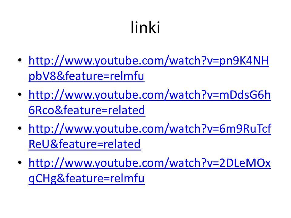 linki http://www.youtube.com/watch?v=pn9K4NH pbV8&feature=relmfu http://www.youtube.com/watch?v=pn9K4NH pbV8&feature=relmfu http://www.youtube.com/wat