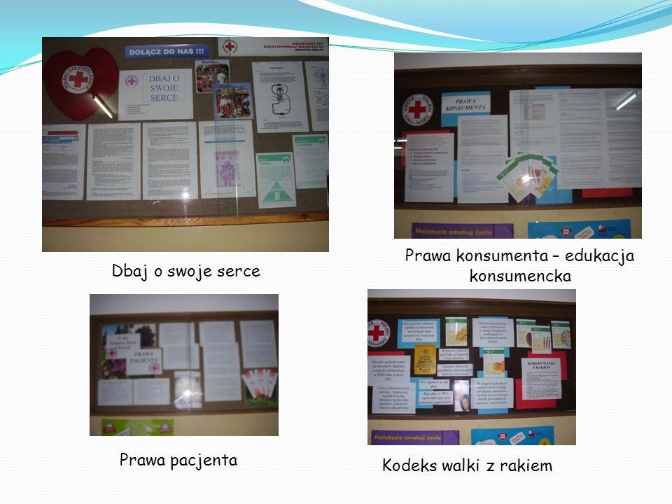 Kodeks walki z rakiem Prawa konsumenta – edukacja konsumencka Prawa pacjenta Dbaj o swoje serce