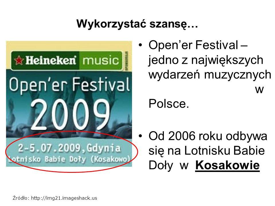 Wykorzystać szansę… Opener Festival – jedno z największych wydarzeń muzycznych w Polsce. Od 2006 roku odbywa się na Lotnisku Babie Doły w Kosakowie Źr