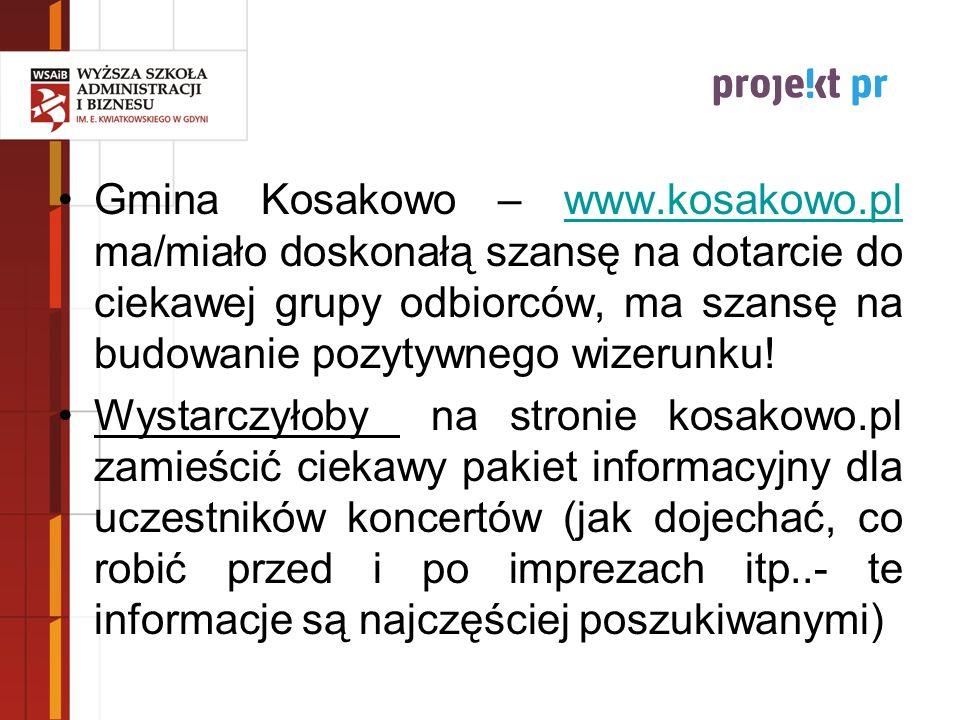 Gmina Kosakowo – www.kosakowo.pl ma/miało doskonałą szansę na dotarcie do ciekawej grupy odbiorców, ma szansę na budowanie pozytywnego wizerunku!www.k