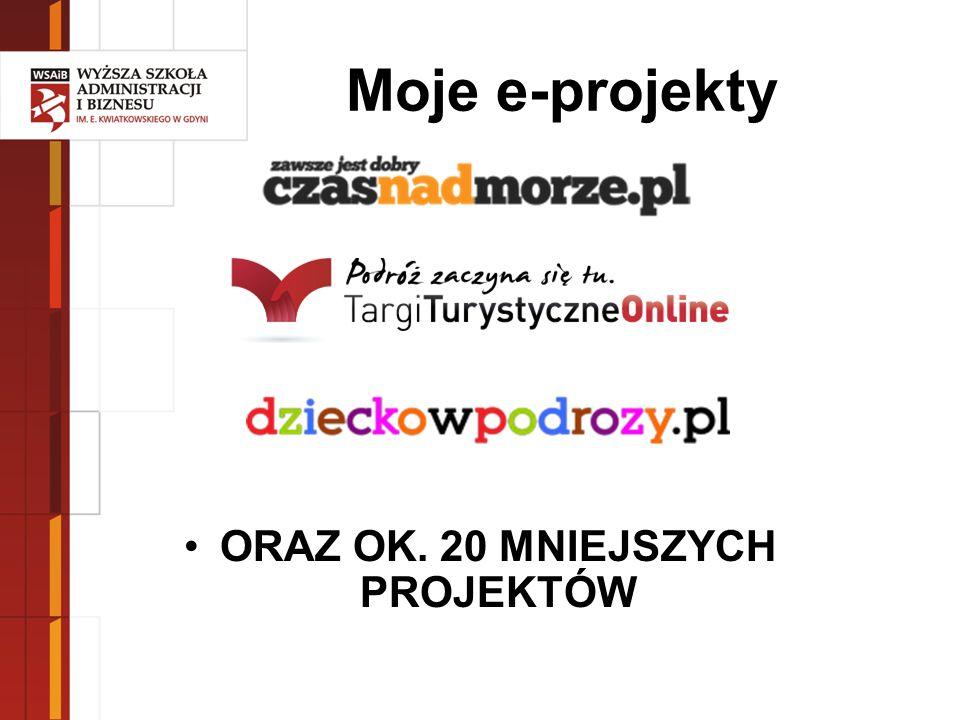 Moje e-projekty ORAZ OK. 20 MNIEJSZYCH PROJEKTÓW