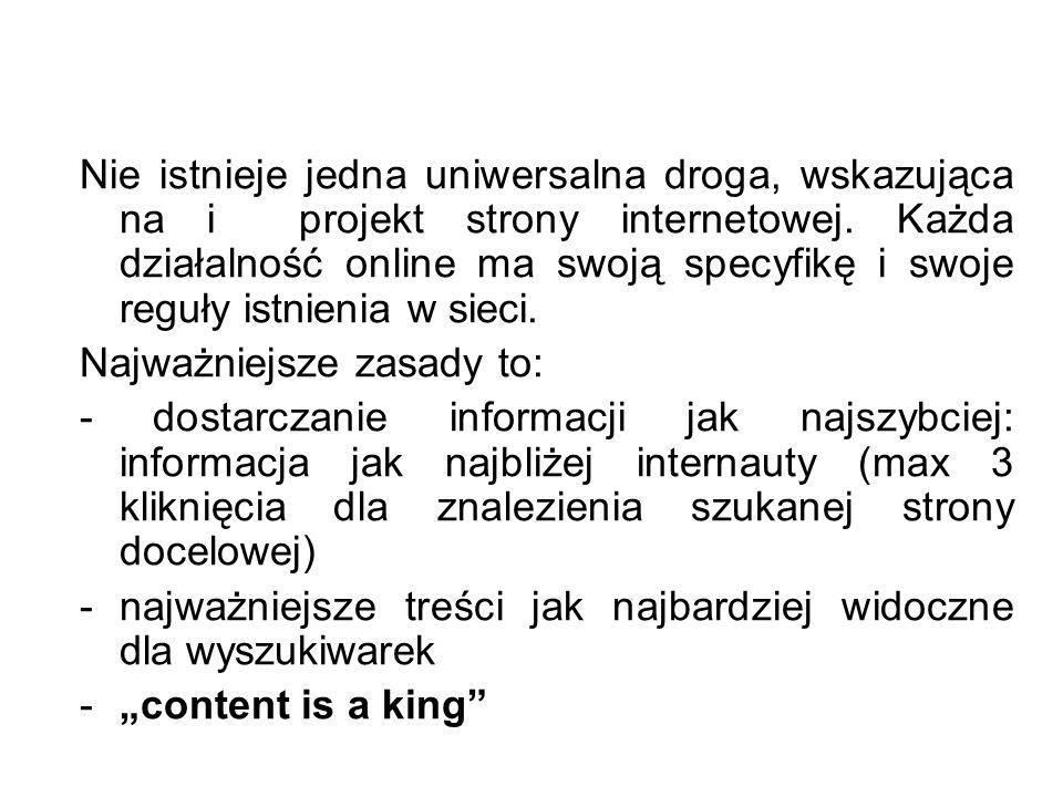 Nie istnieje jedna uniwersalna droga, wskazująca na i projekt strony internetowej. Każda działalność online ma swoją specyfikę i swoje reguły istnieni