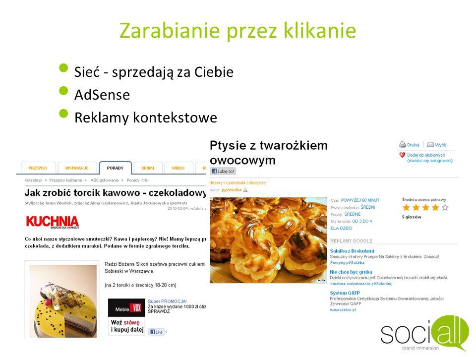 Zarabianie przez klikanie Sieć - sprzedają za Ciebie AdSense Reklamy kontekstowe