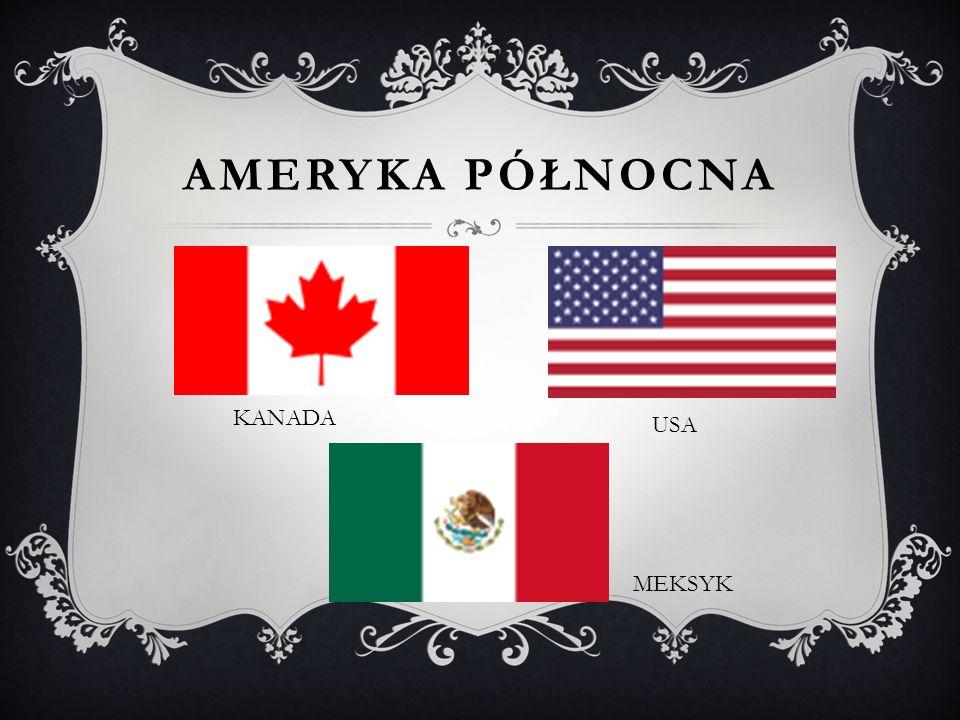 AMERYKA PÓŁNOCNA KANADA MEKSYK USA