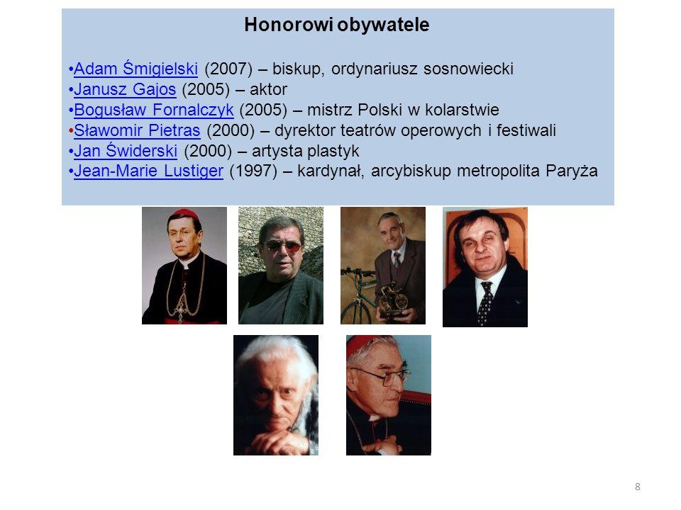 Honorowi obywatele Adam Śmigielski (2007) – biskup, ordynariusz sosnowieckiAdam Śmigielski Janusz Gajos (2005) – aktorJanusz Gajos Bogusław Fornalczyk