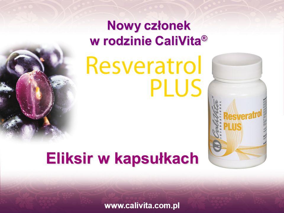 www.calivita.com.pl Zalety składników aktywnych Resveratrol PLUS: Stanowią ochronę przed szkodliwym działaniem wolnych rodników, które mogą utleniać m.in: lipidy, w tym frakcje LDL cholesterolu; Zwiększają aktywność enzymów antyoksydacyjnych oraz stymulują syntezę tlenku azotu (resweratrol);