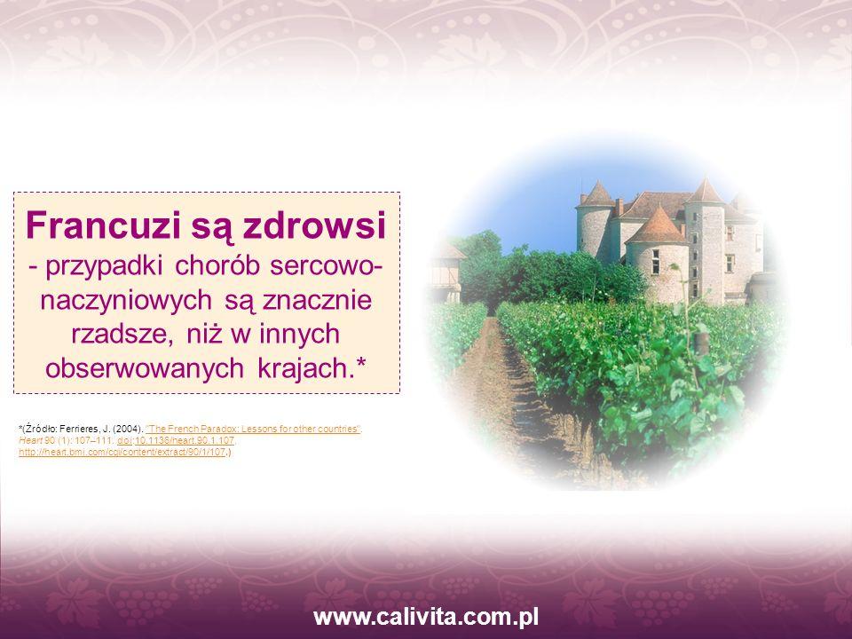 www.calivita.com.pl Rośliny produkują resweratrol w ramach systemu obronnego przed grzybami, jonami metali, szkodliwym promieniowaniem.