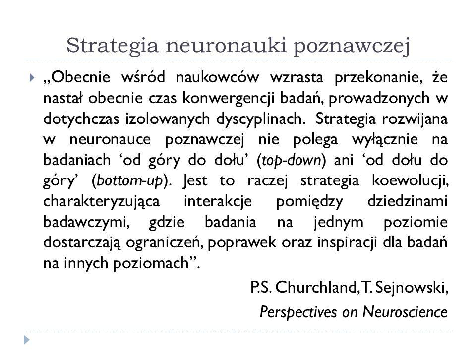 Neurony lustrzane (Mirror Neurons) Giacomo Rizzolatti, Leonardo Fogassi, Vittorio Gallese (Parma, lata 80 i 90) Odkrycie, że pewne neurony w okolicy przedruchowej, aktywują się zarówno gdy: Makak wykonuje celową czynność (np.