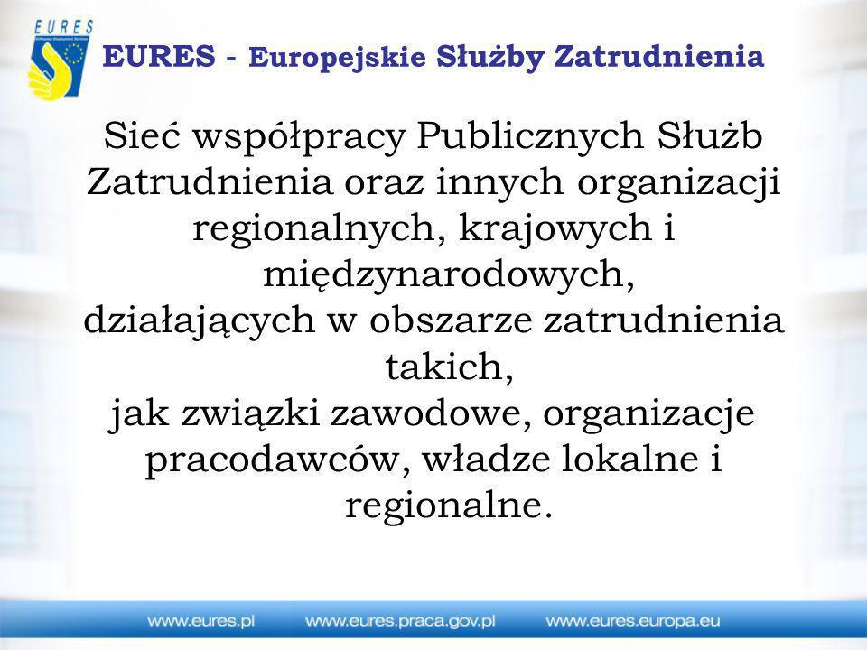 EURES - Europejskie Służby Zatrudnienia Sieć współpracy Publicznych Służb Zatrudnienia oraz innych organizacji regionalnych, krajowych i międzynarodow