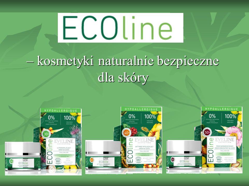 Cechą, która wyróżnia produkty linii ECOline jest wykorzystanie naturalnych składników połączone z uzyskaniem ładnego zapachu i przyjemnej konsystencji.