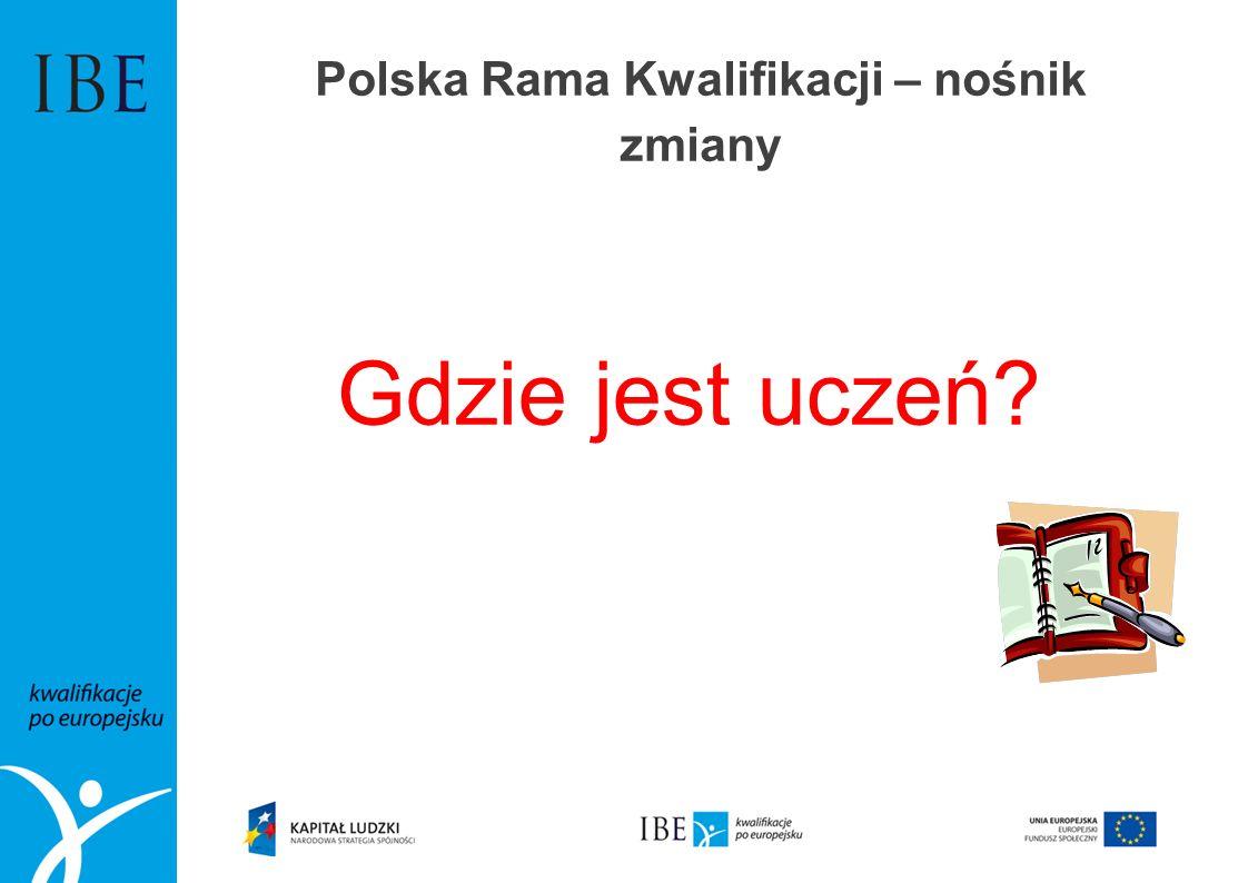 Polska Rama Kwalifikacji – nośnik zmiany Gdzie jest uczeń?