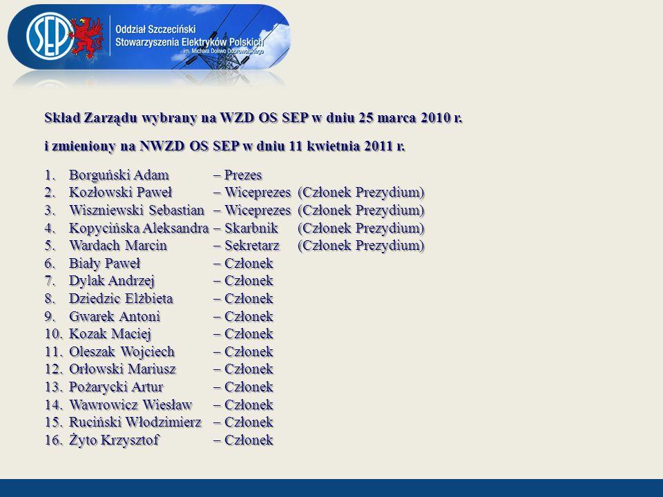 Skład Komisji Rewizyjnej wybranej na WZD OS SEP w dniu 25 marca 2010 r.