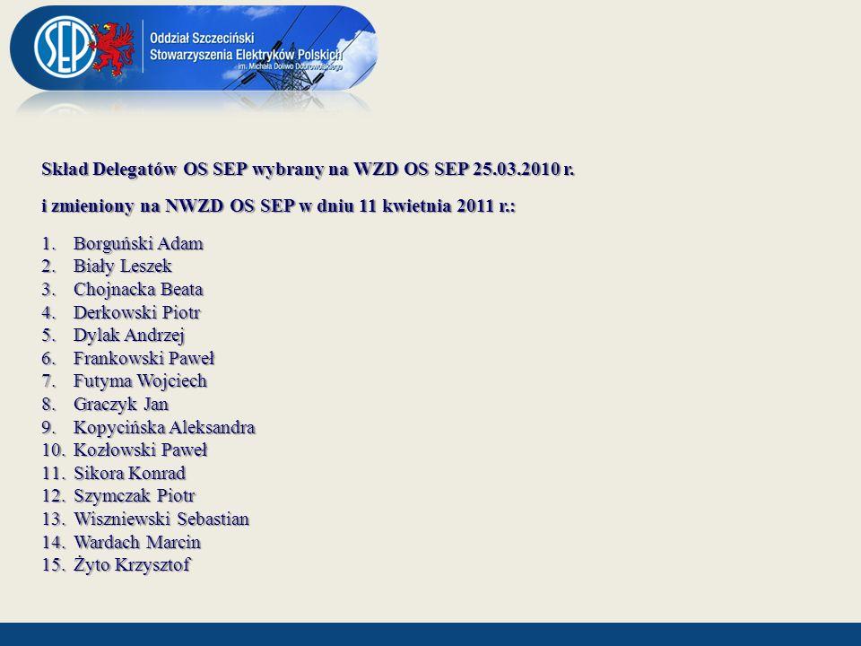 Członkowie Oddziału Szczecińskiego uczestniczący w pracach organów centralnych SEP Lp.