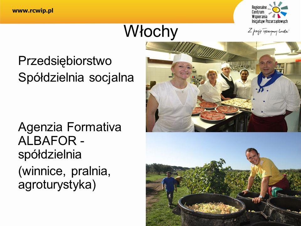 Włochy Przedsiębiorstwo Spółdzielnia socjalna Agenzia Formativa ALBAFOR - spółdzielnia (winnice, pralnia, agroturystyka)