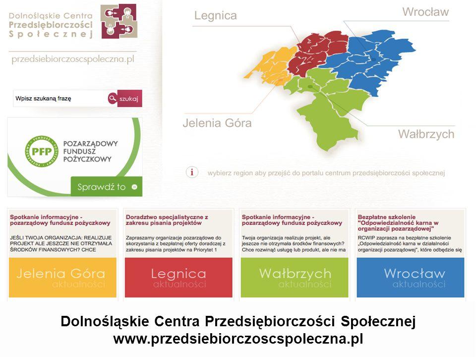 Dolnośląskie Centra Przedsiębiorczości Społecznej www.przedsiebiorczoscspoleczna.pl
