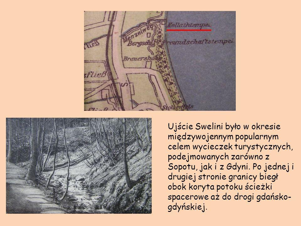 Ujście Swelini było w okresie międzywojennym popularnym celem wycieczek turystycznych, podejmowanych zarówno z Sopotu, jak i z Gdyni. Po jednej i drug