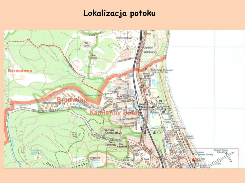 Potok Swelinia Zwany potokiem granicznym, płynie na granicy Sopotu i Gdyni Uchodzi do Zatoki Gdańskiej Długość potoku ok.