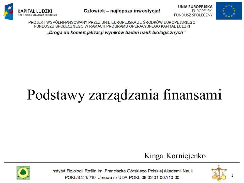 1 Podstawy zarządzania finansami Kinga Korniejenko