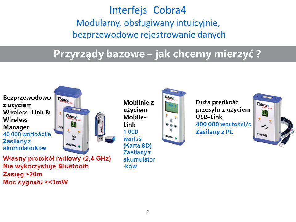Moduł pomiarowy interfejsu Cobra4 Elektrofizjologia: EKG, EMG, EOG Czujniki EKG Częstotliwość próbkowania0,03...20 Hz Wzmocnienie450- krotne EMG Częstotliwość próbkowania80..1000 Hz Wzmocnienie 1600- krotne EOG Częstotliwość próbkowania0,03…10 Hz Wzmocnienie 800- krotne Zabezpieczenie galwaniczne:4000V (klasa bezpieczeństwa 2) Wymiary (L x B x H) mm:62 x 110 x 35 Waga:300 g