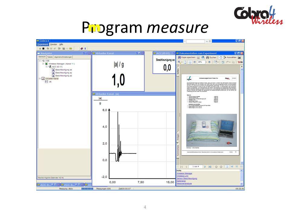 Moduł pomiarowy interfejsu Cobra4 Prąd / Napięcie ± 6 A, ± 30 V Moduł pomiarowy interfejsu Cobra4 Prąd / Napięcie ± 6 A, ± 30 V służy do pomiaru i rejestracji natężenia prądu elektrycznego i napięcia.