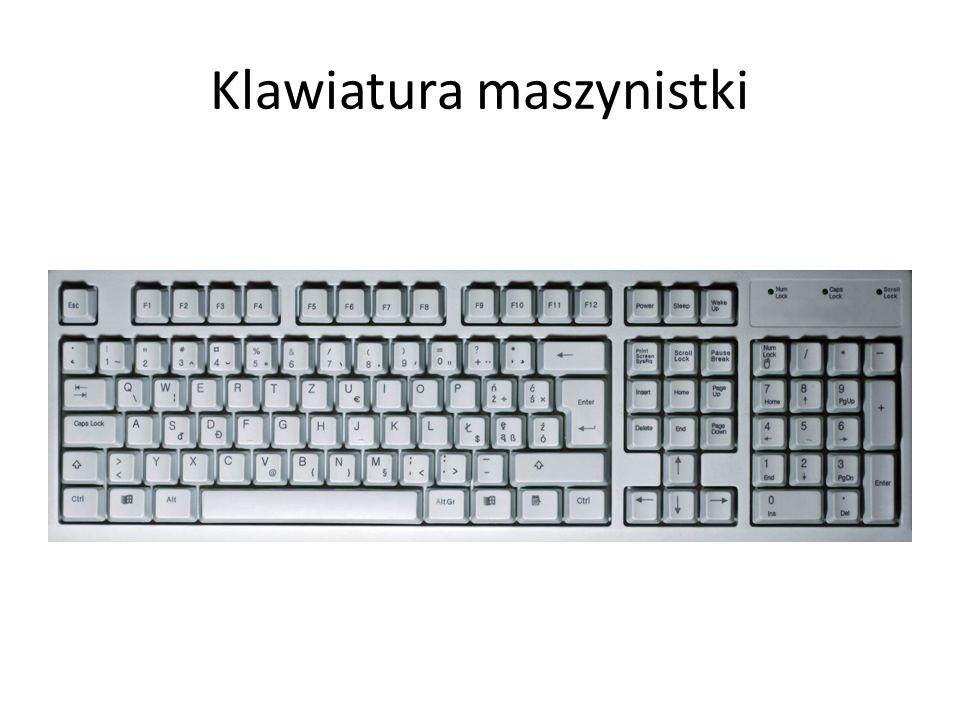 Ctrl Ctrl – (Control) klawisz mający za zadanie zmodyfikować działanie klawiatury podobnie jak klawisz Shift.