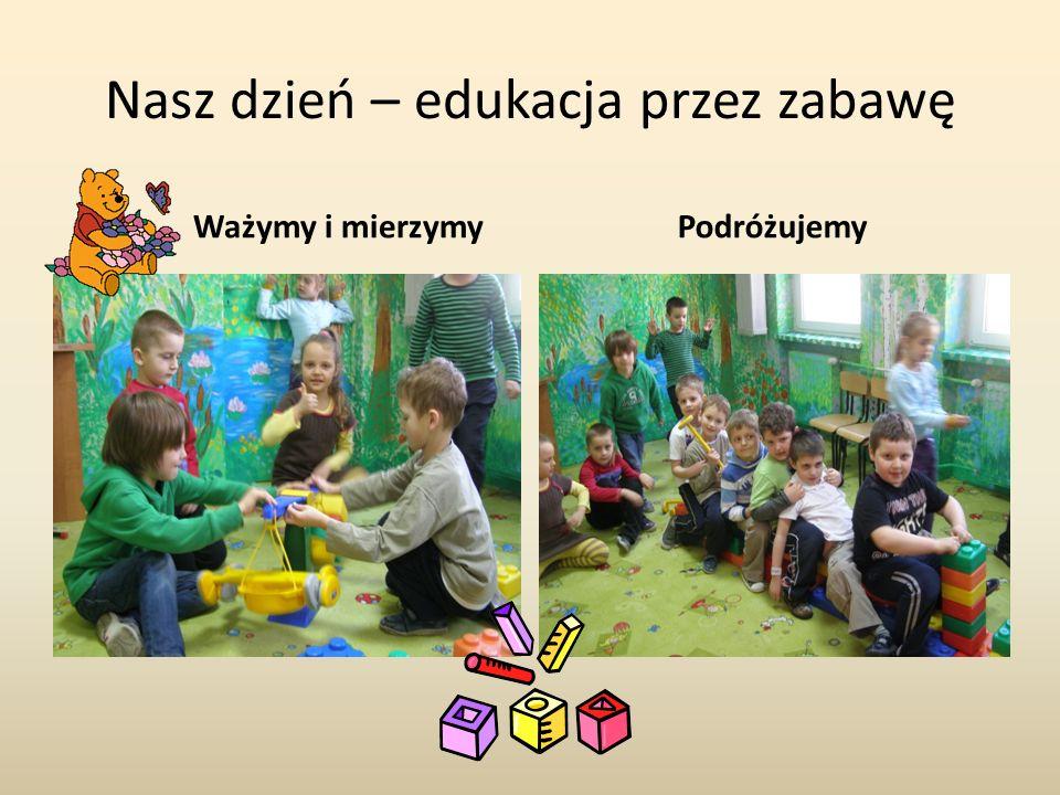 Nasz dzień – edukacja przez zabawę Ważymy i mierzymyPodróżujemy