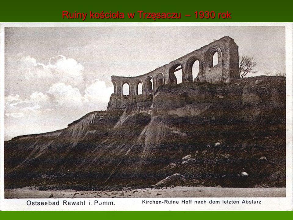 Ruiny kościoła w Trzęsaczu – 1930 rok
