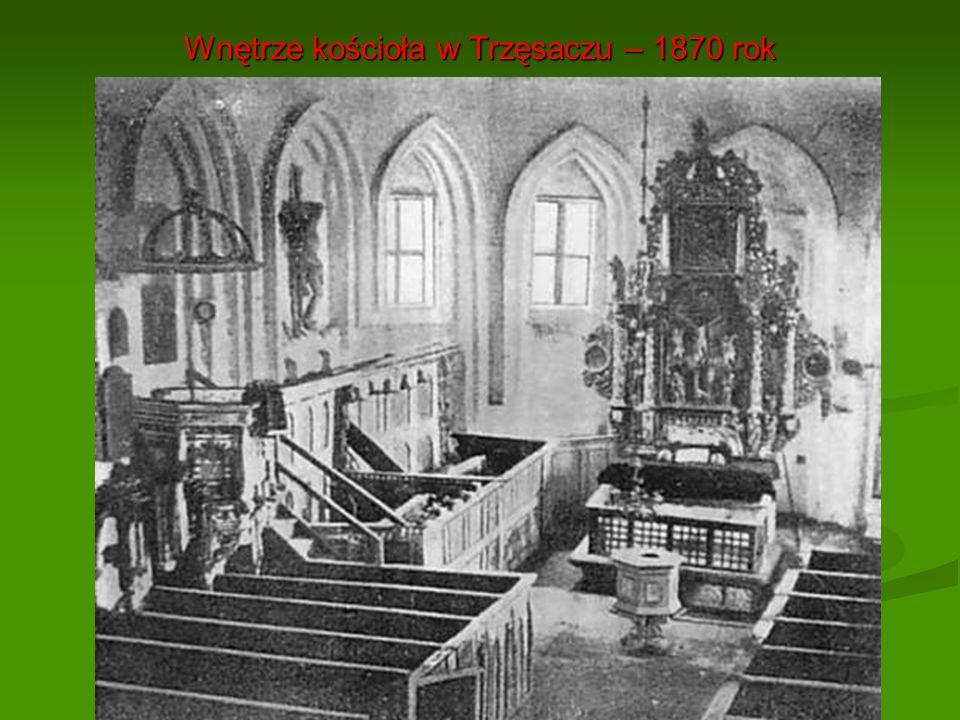 Wnętrze kościoła w Trzęsaczu – 1870 rok