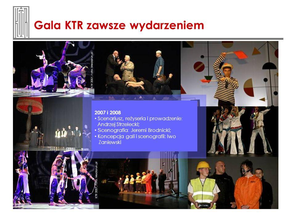 Gala KTR zawsze wydarzeniem 2007 i 2008 Scenariusz, reżyseria i prowadzenie : Andrzej Strzelecki; S cenografia : Jeremi Brodnicki; Koncepcja gali i sc