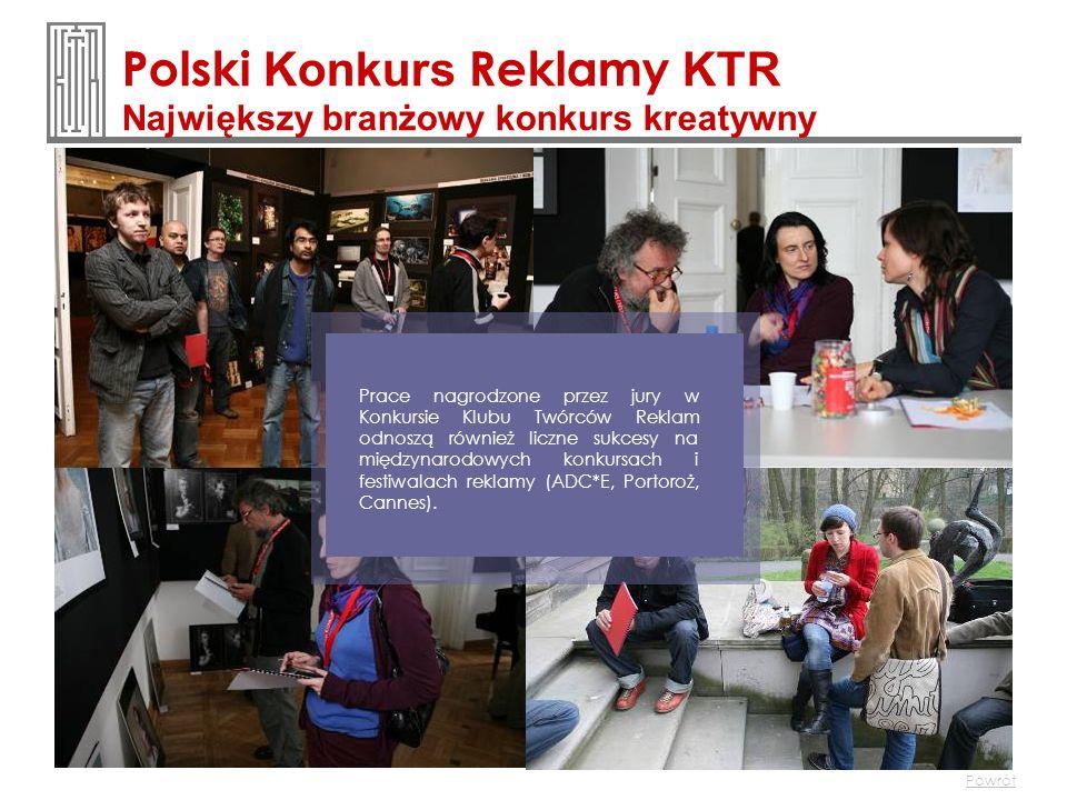 Polski Konkurs Reklamy KTR Największy branżowy konkurs kreatywny Prace nagrodzone przez jury w Konkursie Klubu Twórców Reklam odnoszą również liczne s