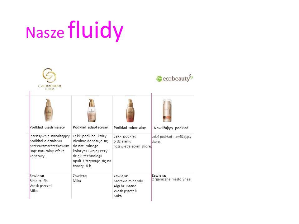 Nawilżający podkład Lekki podkład nawilżający skórę. Zawiera: Organiczne masło Shea Nasze fluidy Podkład adaptacyjny Lekki podkład, który idealnie dop