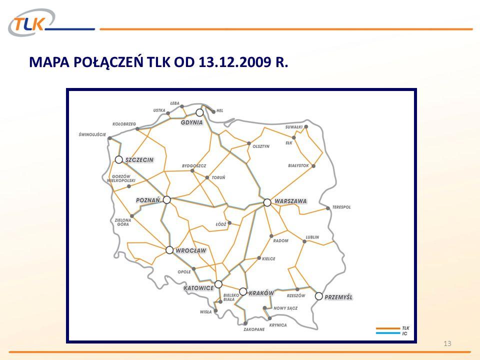MAPA POŁĄCZEŃ TLK OD 13.12.2009 R. 13