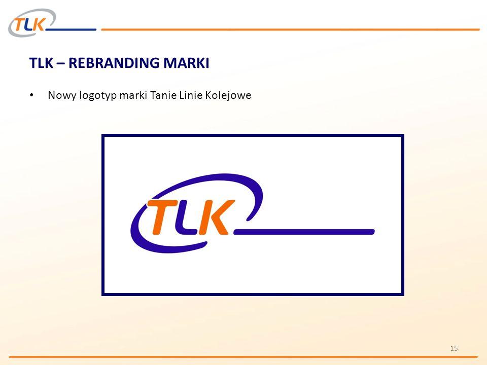 TLK – REBRANDING MARKI Nowy logotyp marki Tanie Linie Kolejowe 15